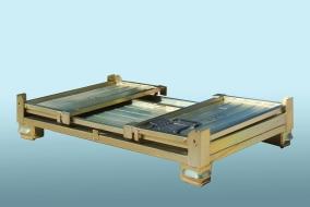 Robotické svařování, skládací paleta, detail palety složené, Strojtex