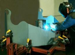 Svářecí robot - příprava, svařování Strojtex
